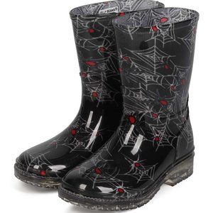 Jelly Beans Spider Web Pull On Rain Boots